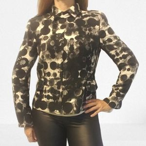 AKRIS Punto Black & White Graphic Blazer
